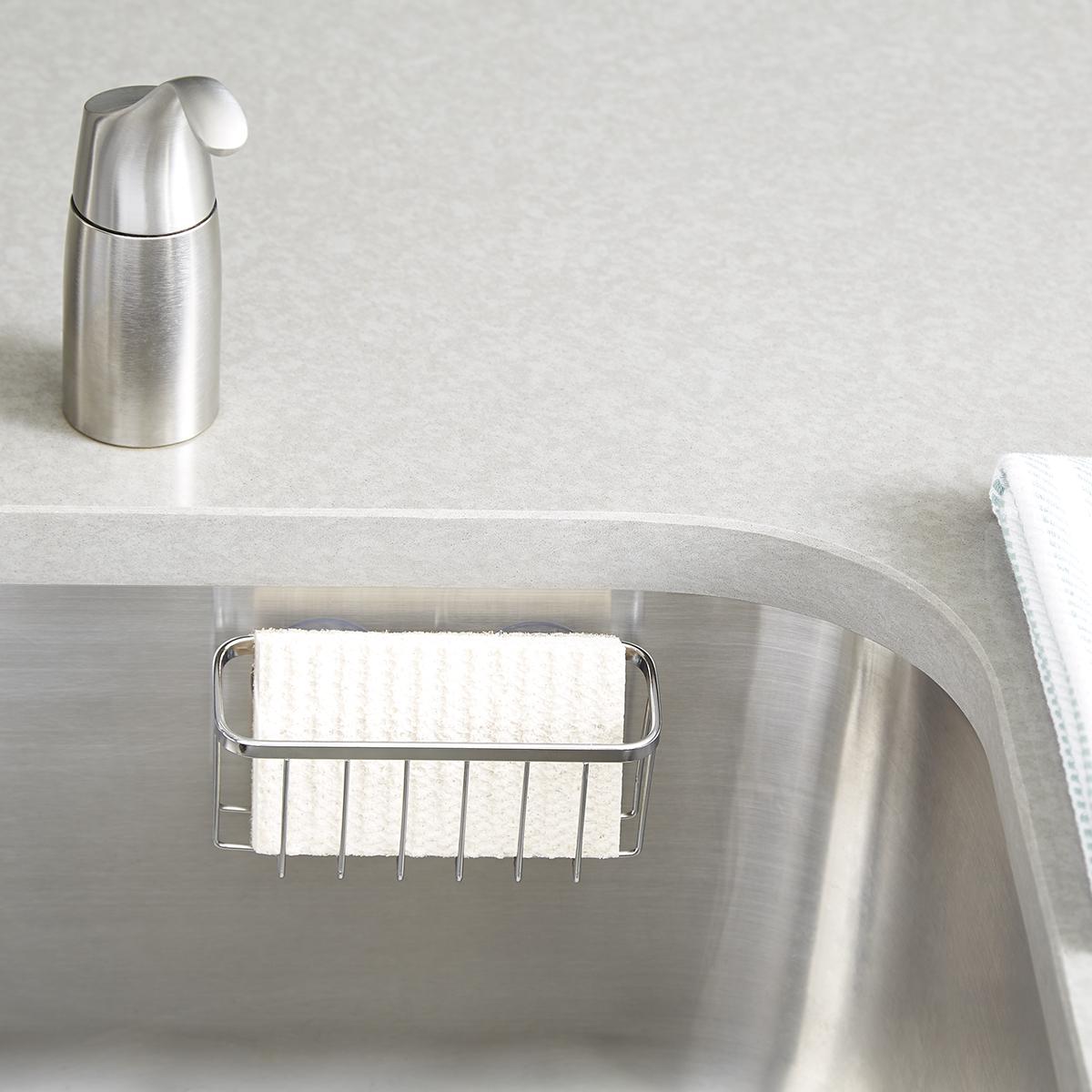 InterDesign Stainless Steel Suction Sink Center
