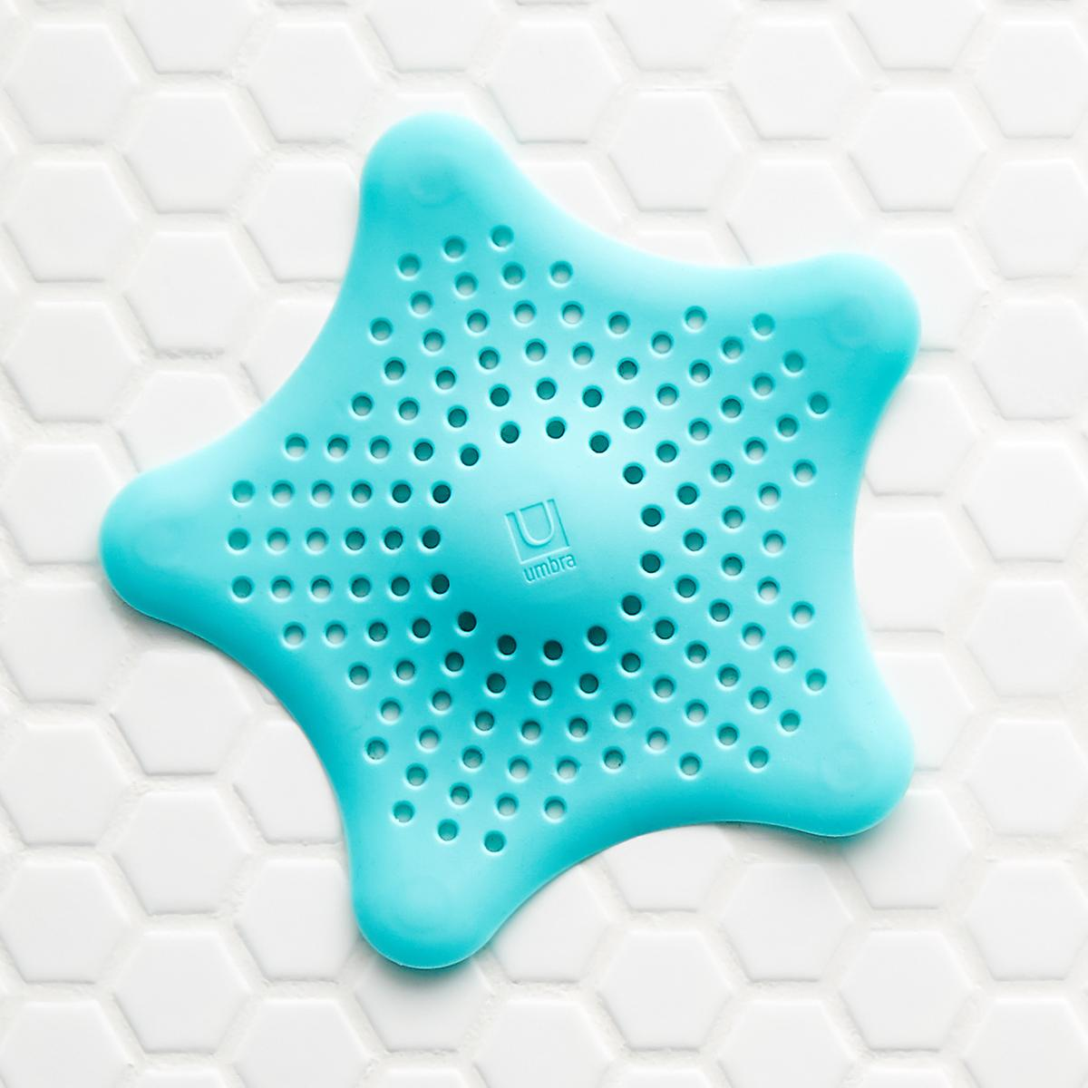 Umbra Teal Starfish Drain Cover | The Container Store