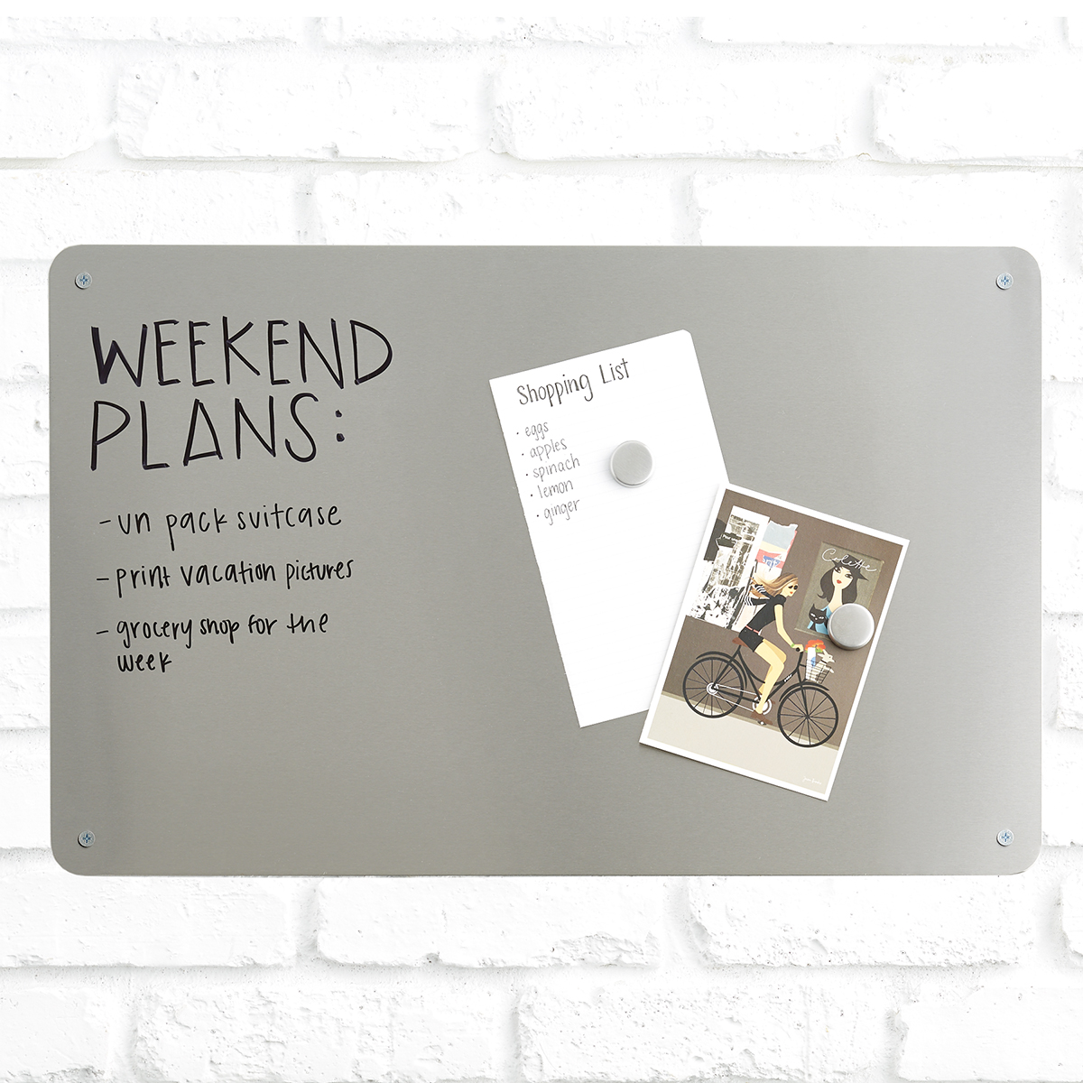 Merveilleux Stainless Steel Magnetic Dry Erase Boards