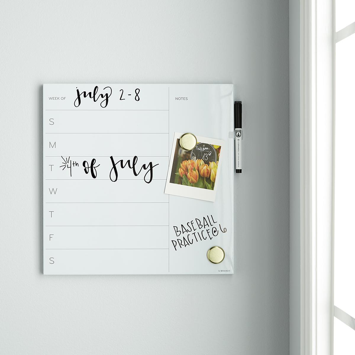 Bathroom Paneling Whiteboard 201x300.jpg U-Brands White Square Weekly Dry Erase Board ...