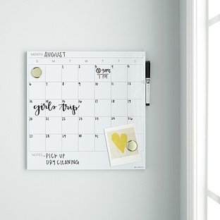 U Brands White Square Monthly Dry Erase Board The Container Store