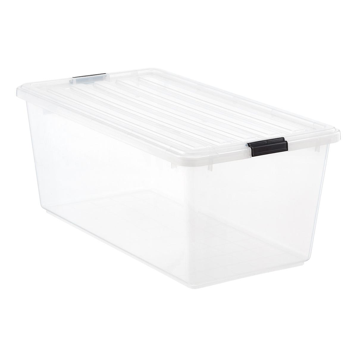 22.75 gal. Clear Tote with Locking Lid Case of 4 | The Container Store