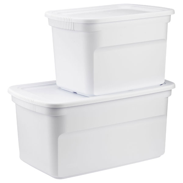 White Tote Box Cases The Container Store