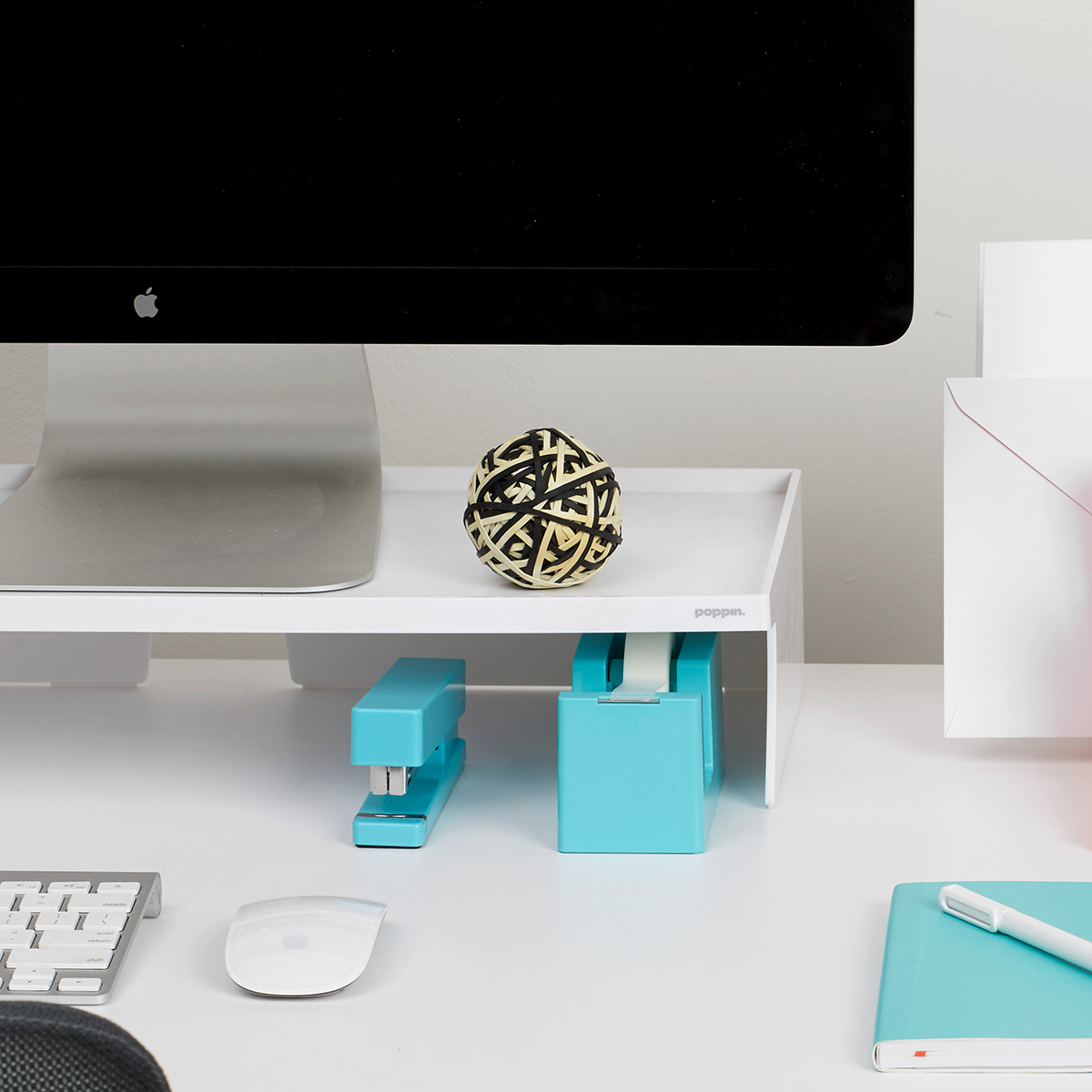 white poppin monitor stand the container store rh containerstore com