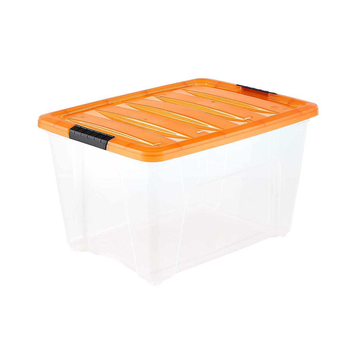 iris 13.4 gal. halloween storage tote | the container store