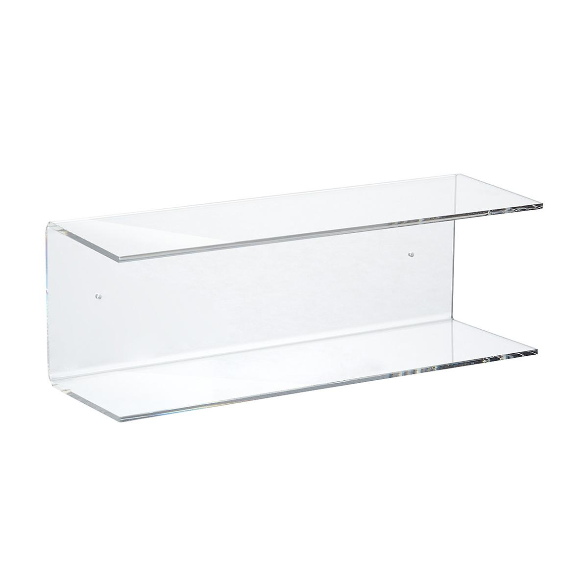 Double Acrylic Wall Shelf The