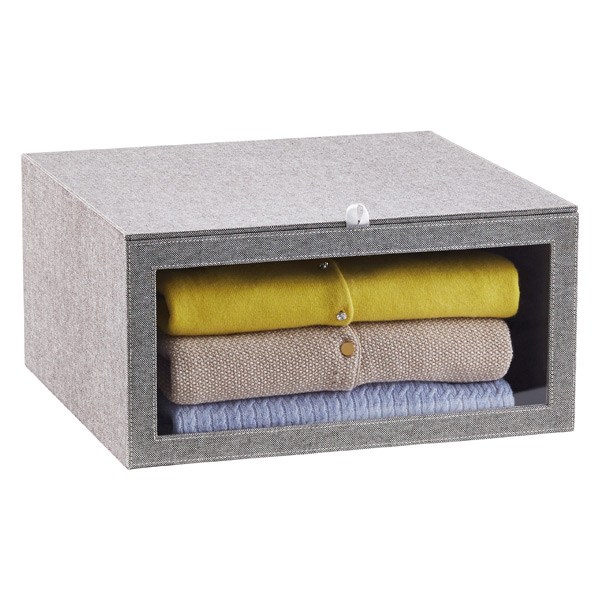 Grey Drop Front Sweater Box The Container Store