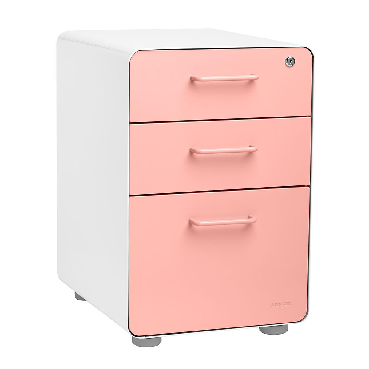 Poppin File Cabinet White Poppin 3 Drawer Stow File Cabinet