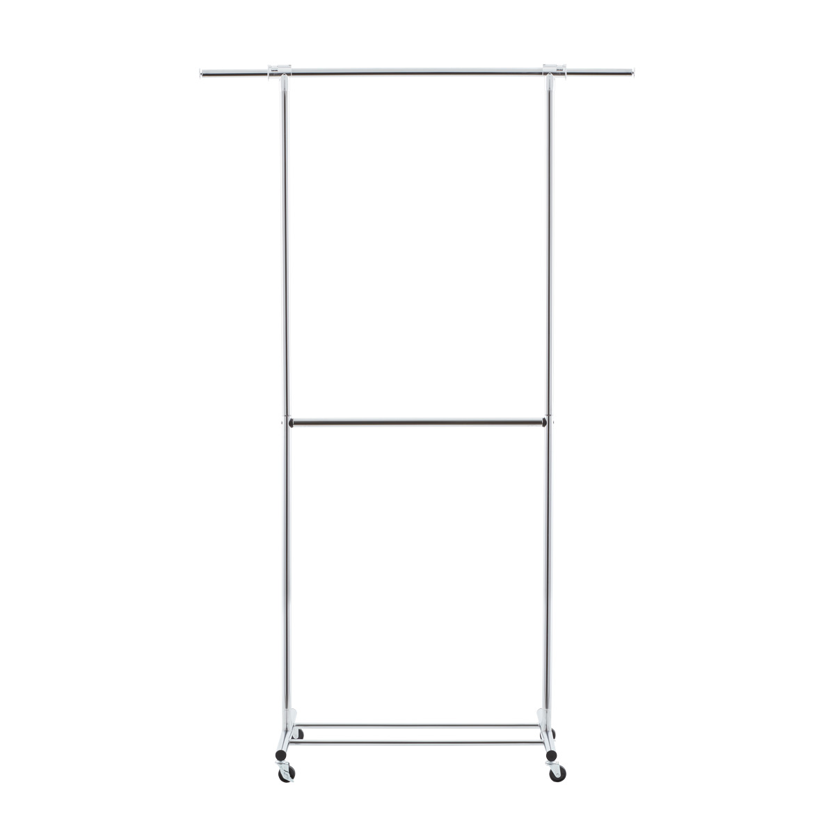 Clothes Rack   Chrome Metal Double Hang Clothes Rack | The Container Store