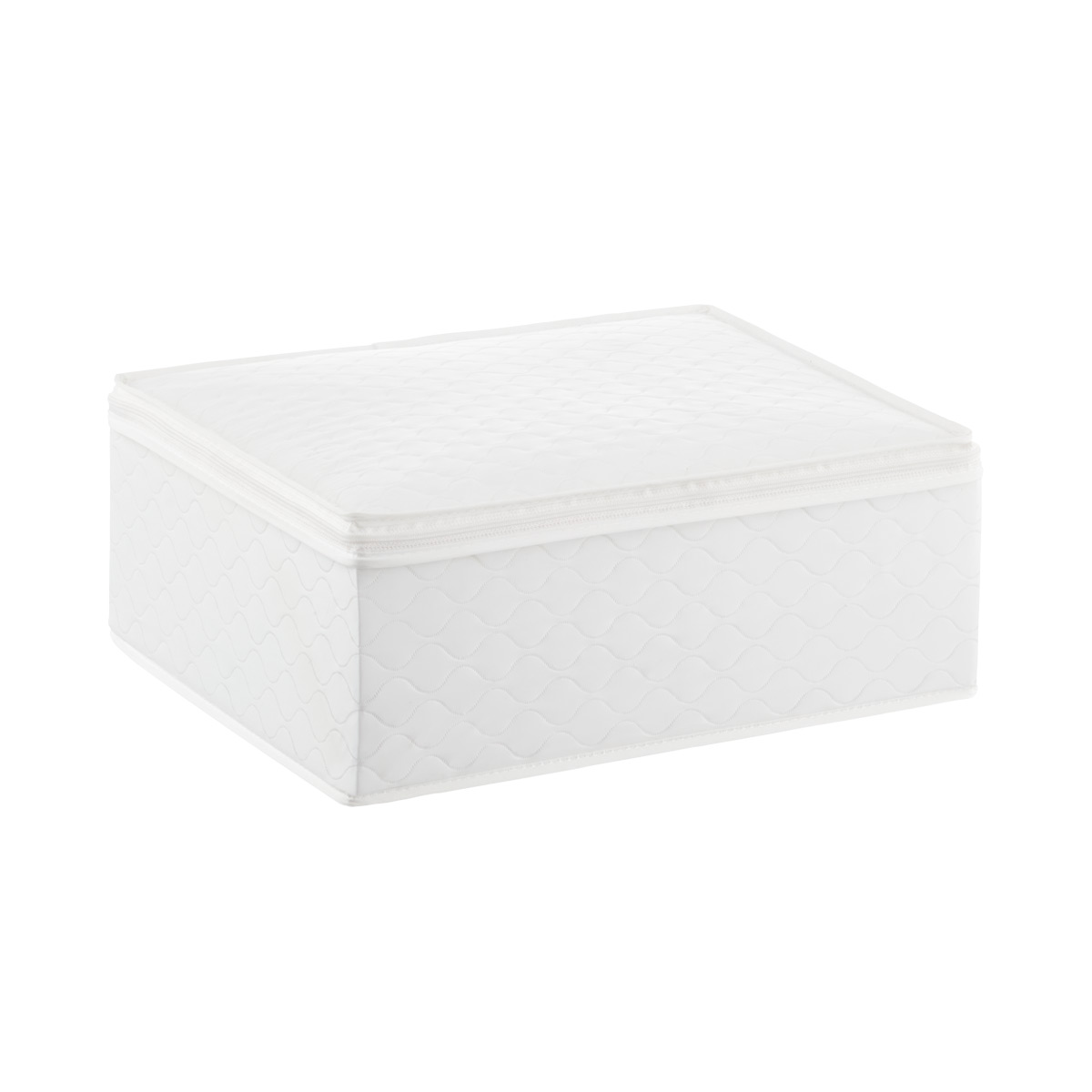 Beau White Quilted China Storage