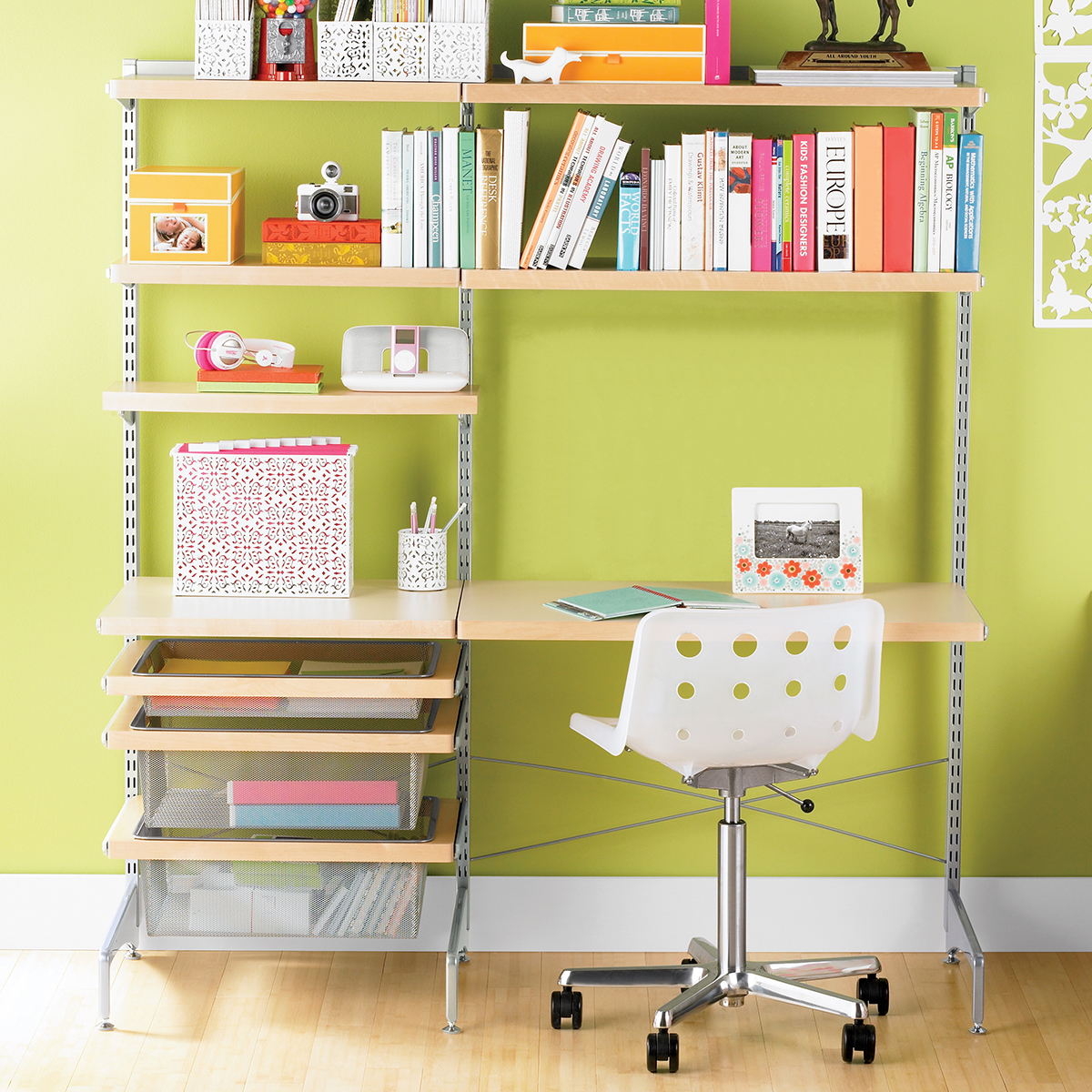 Picture of: Elfa Decor Freestanding Study Zone The Container Store