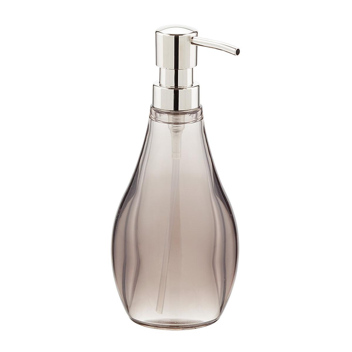 Umbra smoke droplet acrylic countertop bathroom set the for Bathroom countertop accessories sets