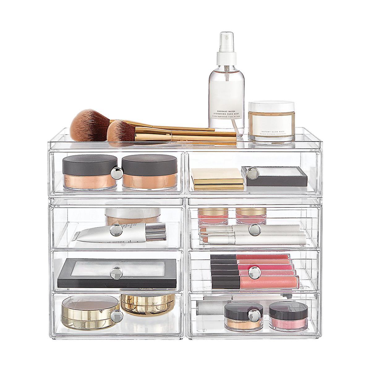 InterDesign Clarity Stackable Makeup Storage Collection
