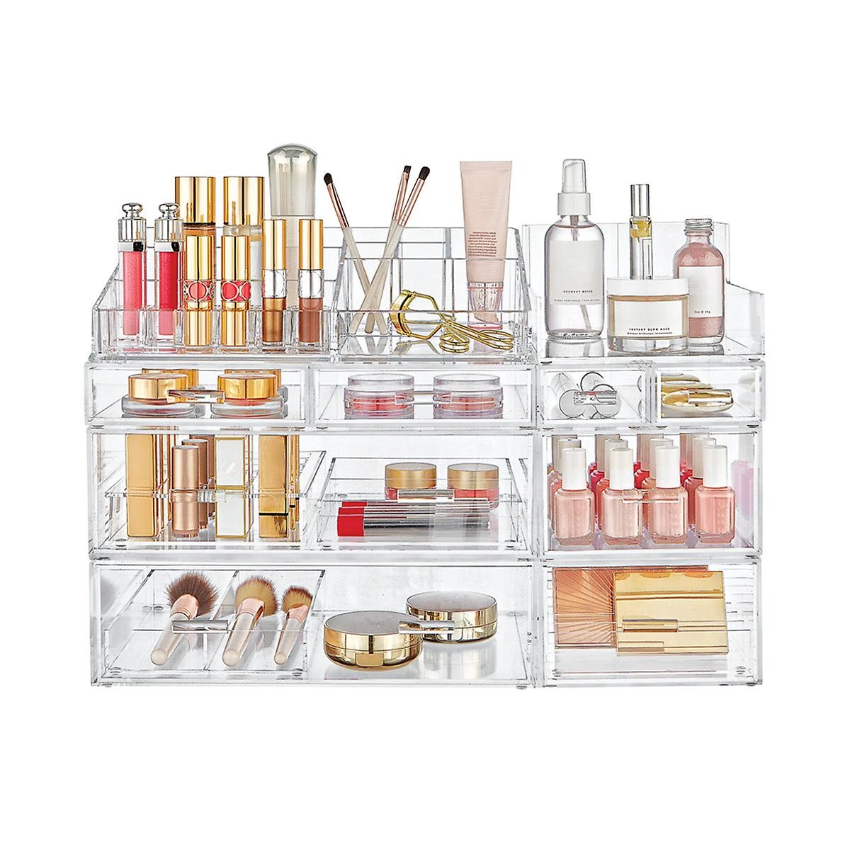 Luxe Acrylic Large Makeup & Nail Polish Storage Kit | The Container ...
