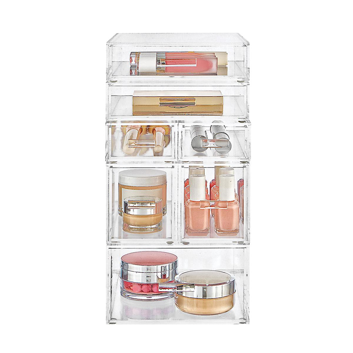 Luxe Acrylic Small Makeup & Nail Polish Storage Kit | The Container ...