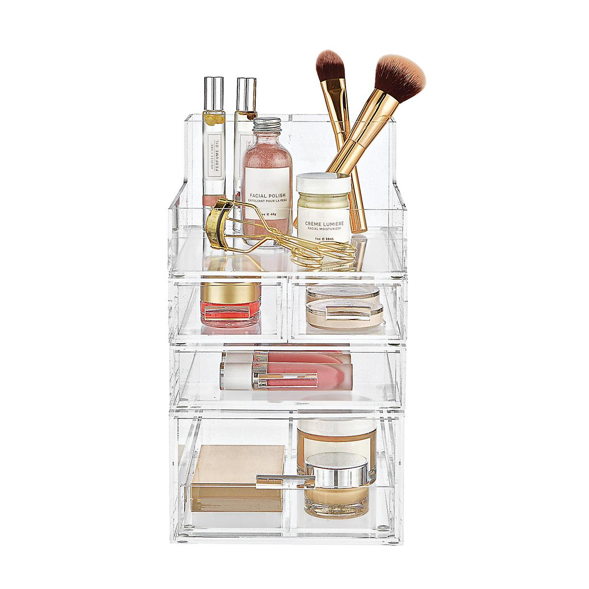 Luxe Acrylic Small Makeup Storage Kit The Container Store