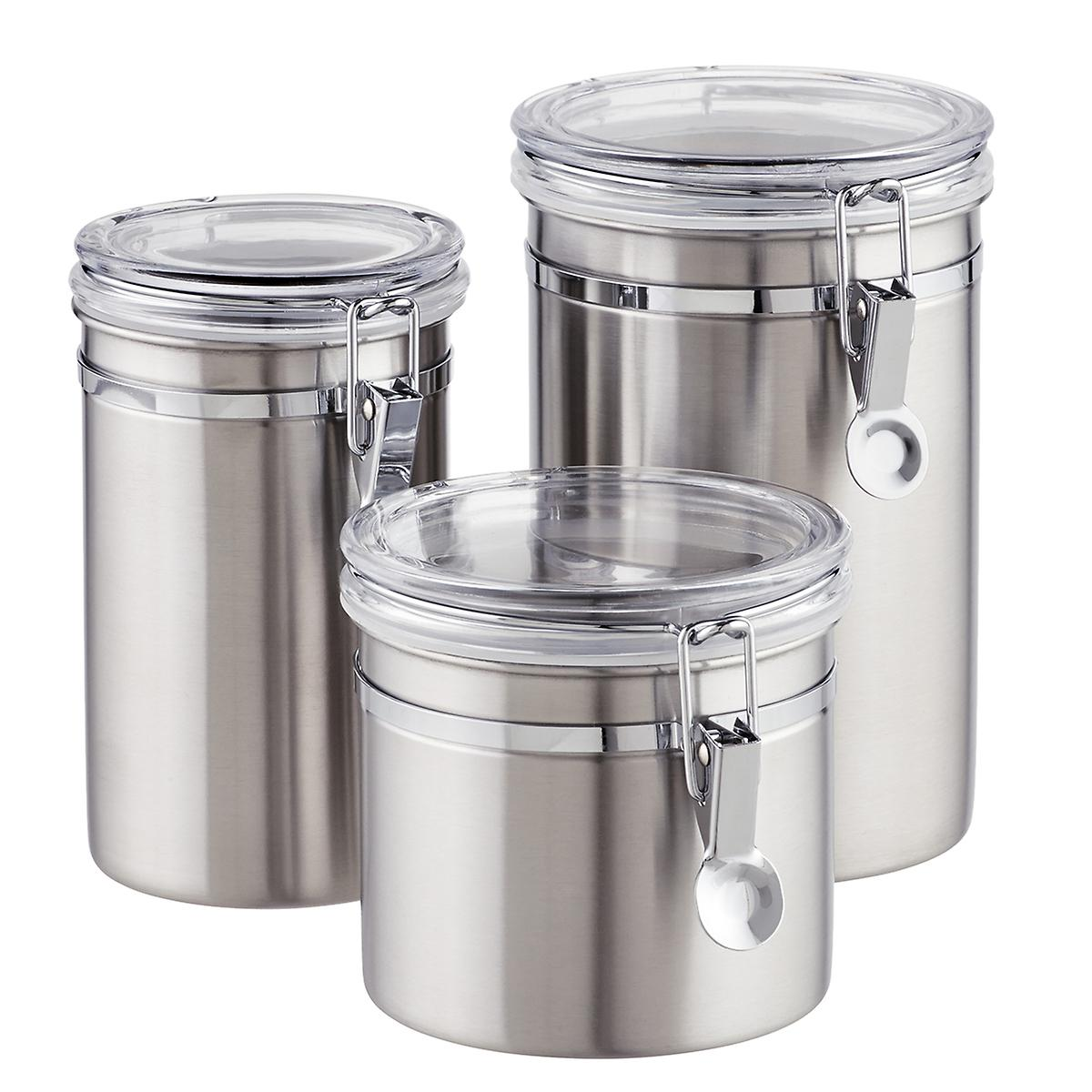 Sensational Brushed Stainless Steel Canisters Best Image Libraries Thycampuscom
