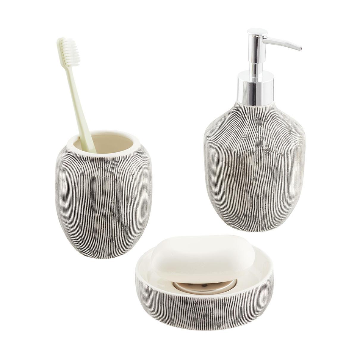 White Ceramic Countertop Bathroom Set | The Container Store
