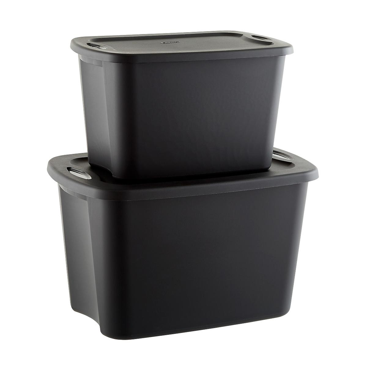 sterilite black tote boxes | the container store