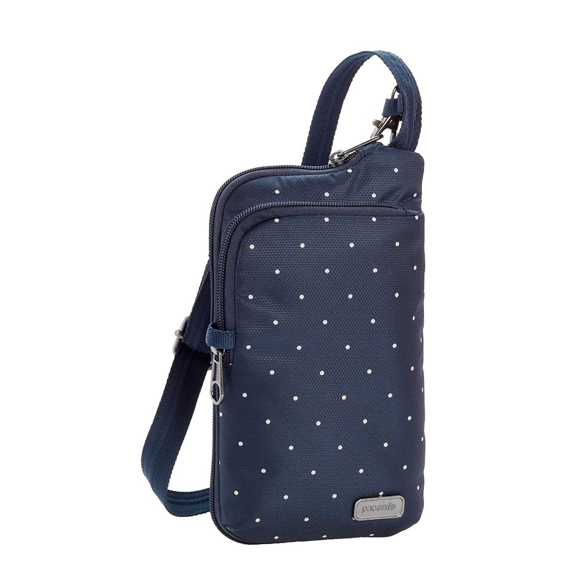 Outpac Navy Dots Daysafe Tech Crossbody The Container Store