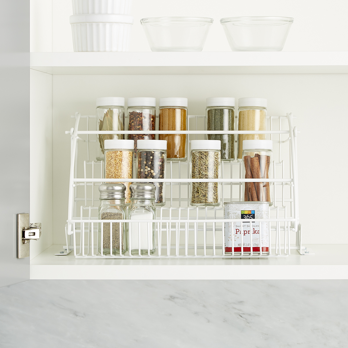 pull out spice rack rubbermaid pull down spice rack the rh containerstore com