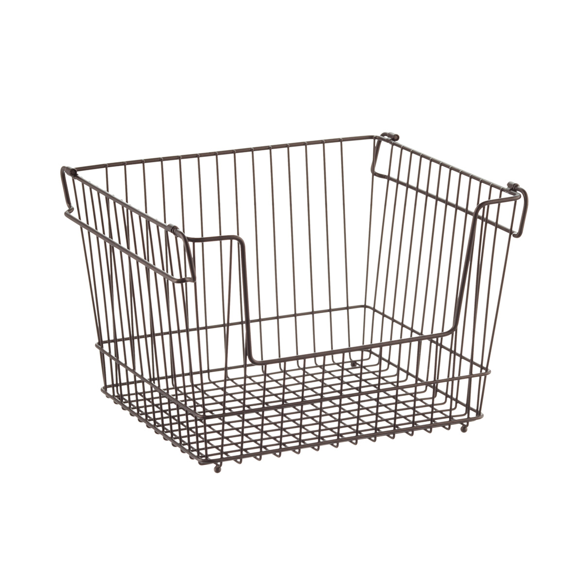 Large Basket   Large Bronze York Open Stackable Basket | The Container Store