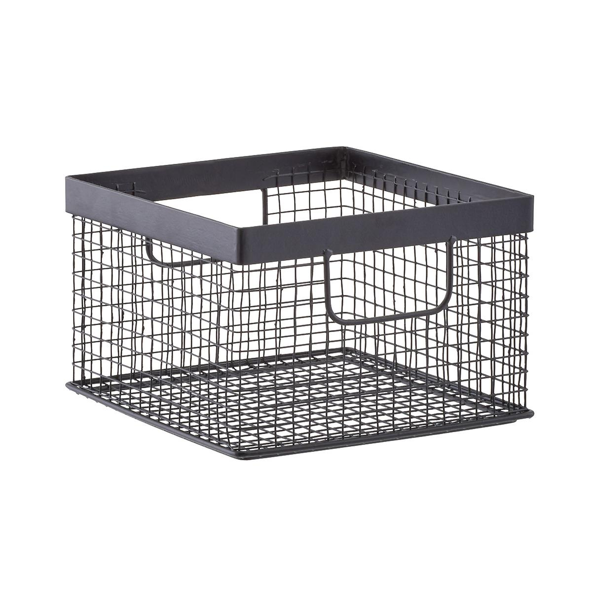 Wire Bins | Design Ideas Black Wire Grid Storage Bins The Container Store