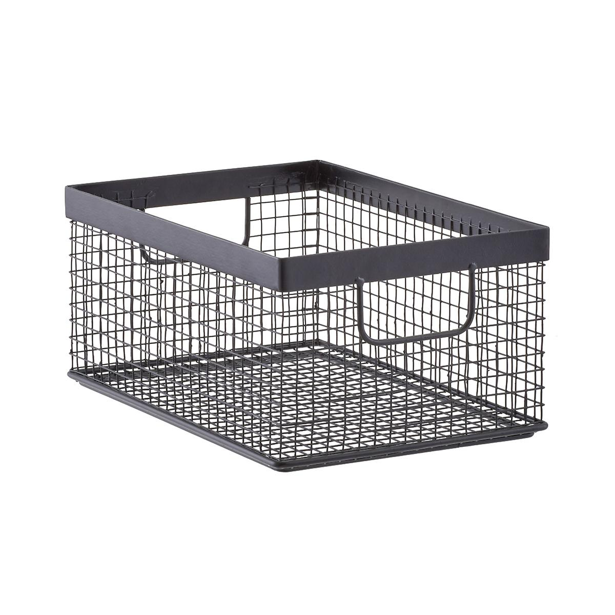 Design Ideas Black Wire Grid Storage Bins | The Container Store
