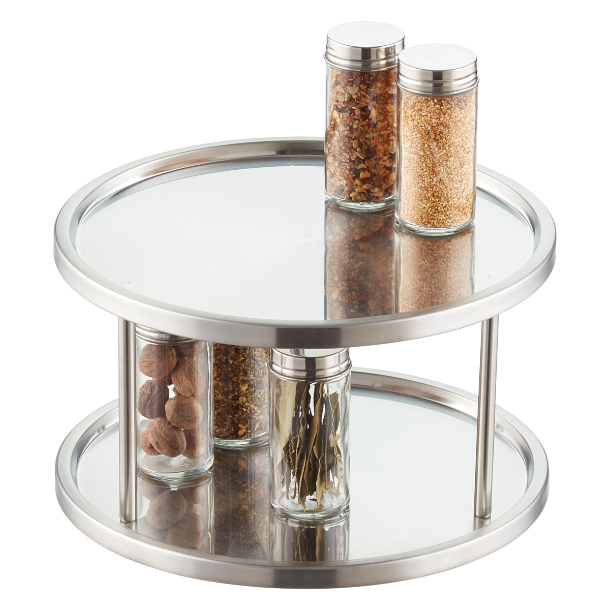 Superieur 2 Tier Stainless Steel Lazy Susan