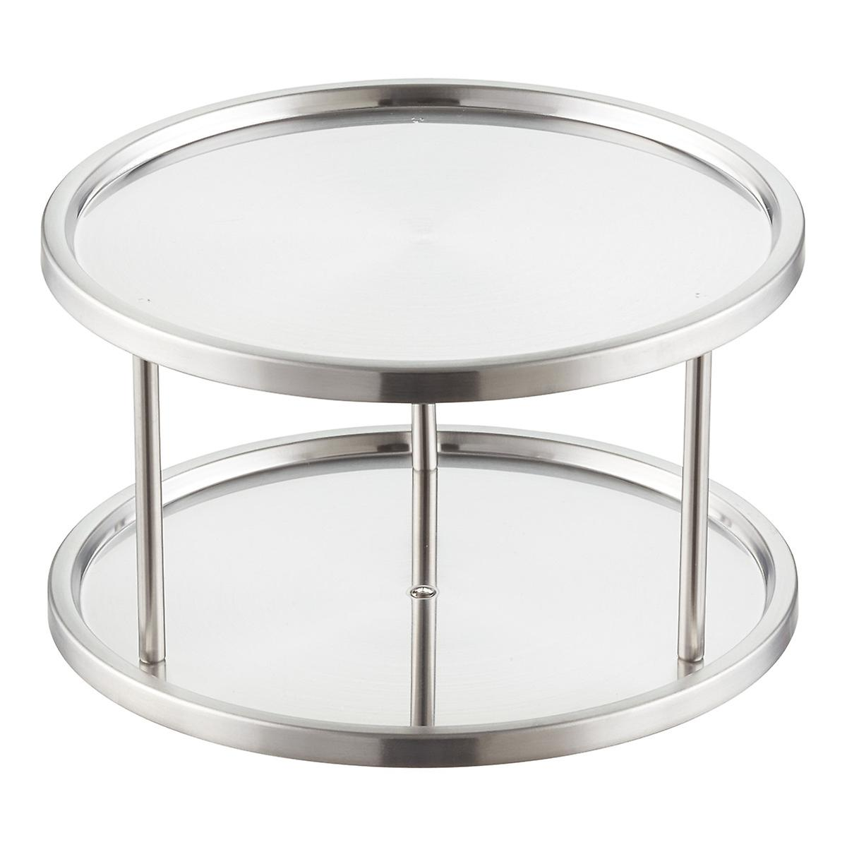 2 Tier Stainless Steel Lazy Susan The Container Store