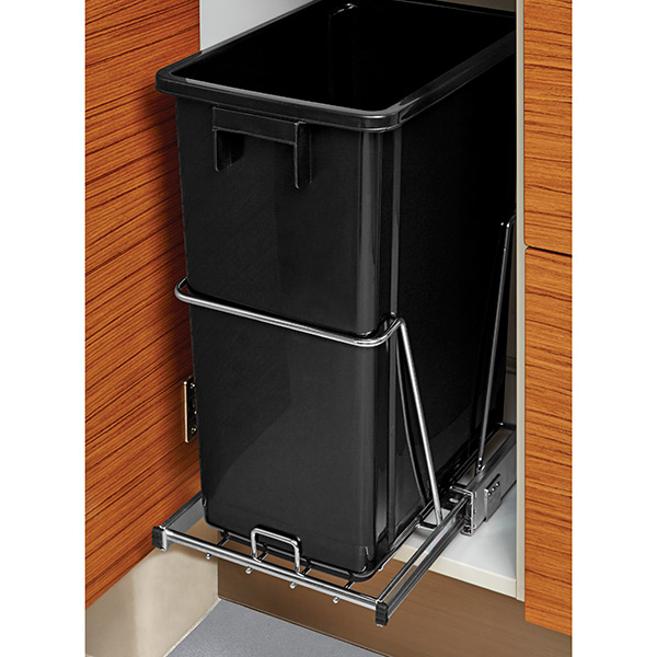 Under The Cabinet Pull Out Trash Can 8 Gal Undercabinet