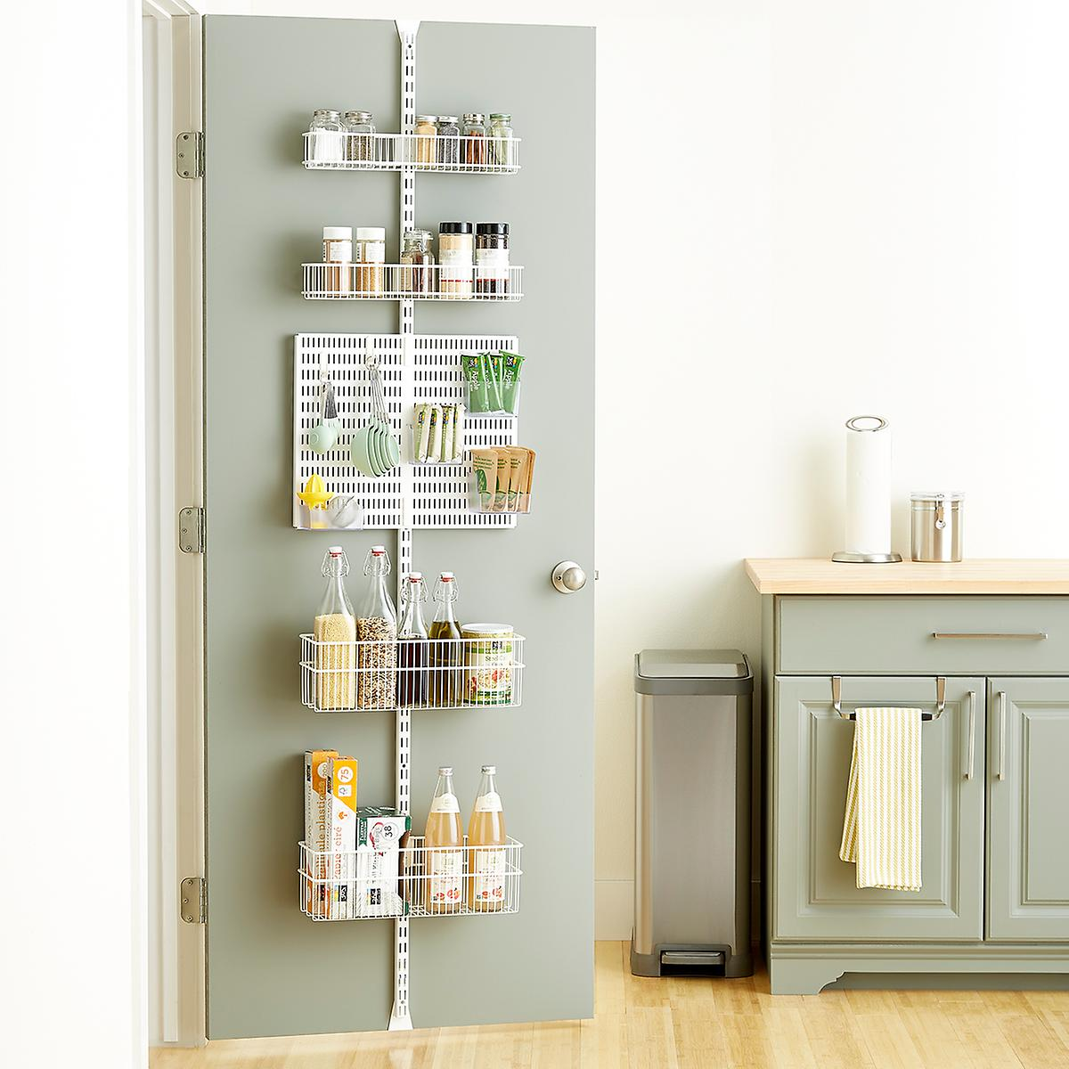 Well known elfa utility White Wire Kitchen Door & Wall Rack | The Container Store DZ92