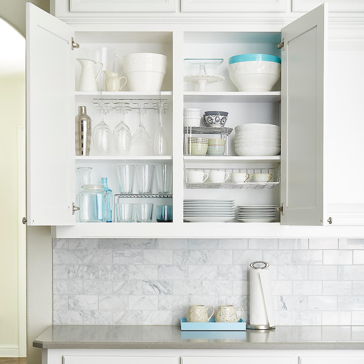 Upper Cabinet Organization Starter Kit | The Container Store