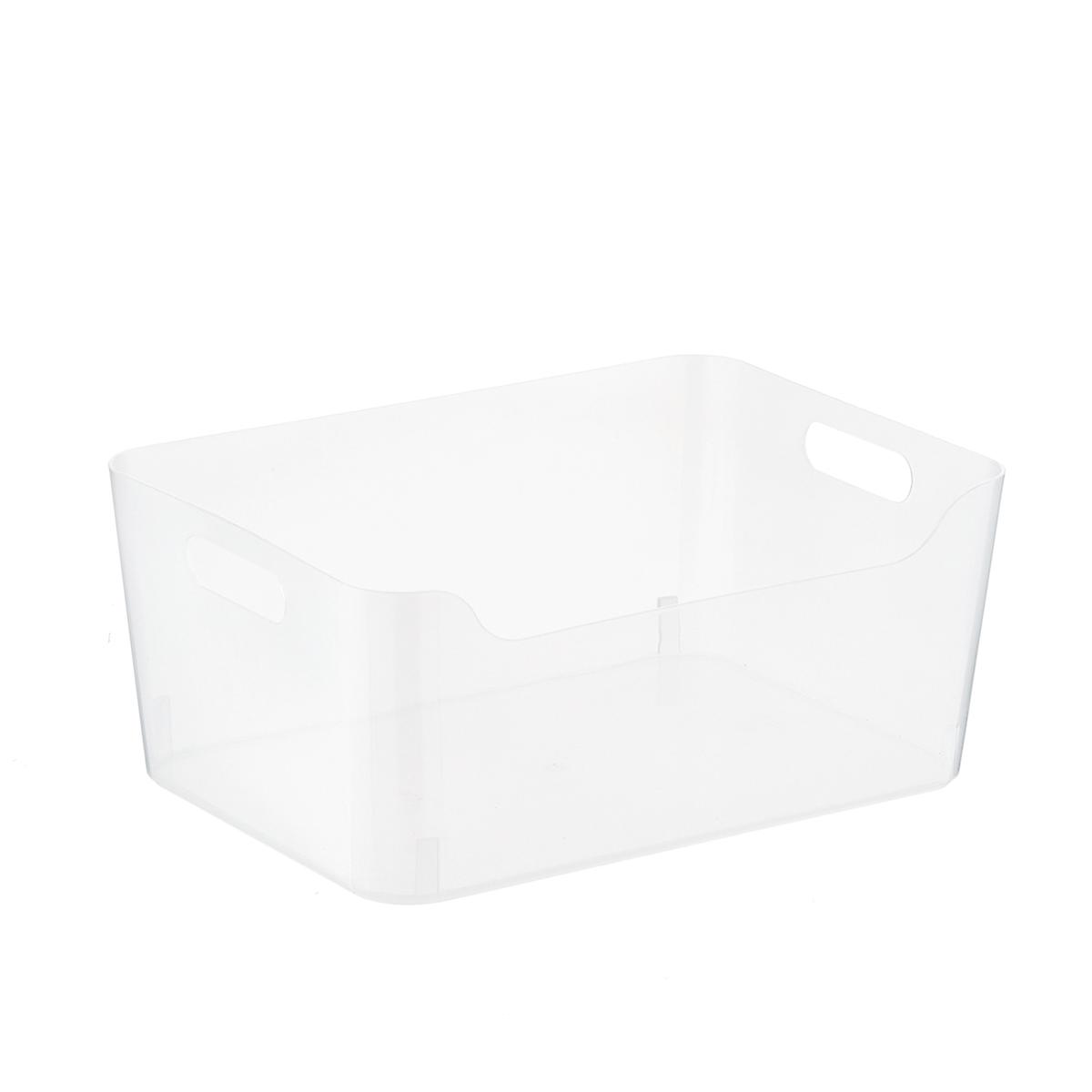clear plastic storage bins with handles the container store - Plastic Storage Bins