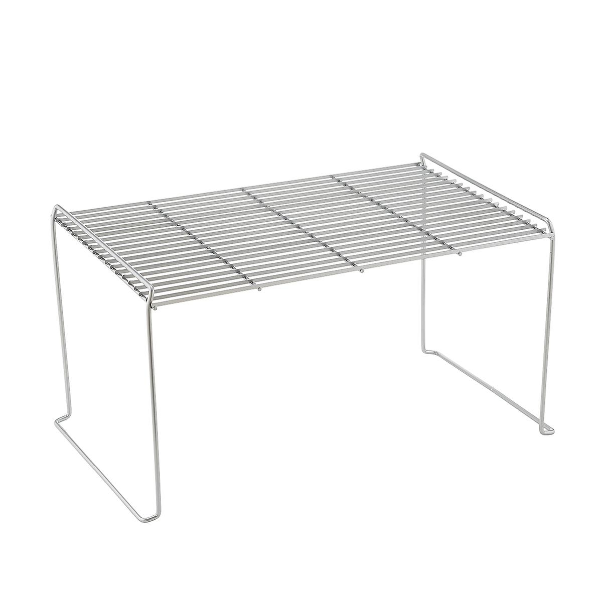 Marvelous Large Half Large Silver Wire Stacking Shelves Best Image Libraries Sapebelowcountryjoecom