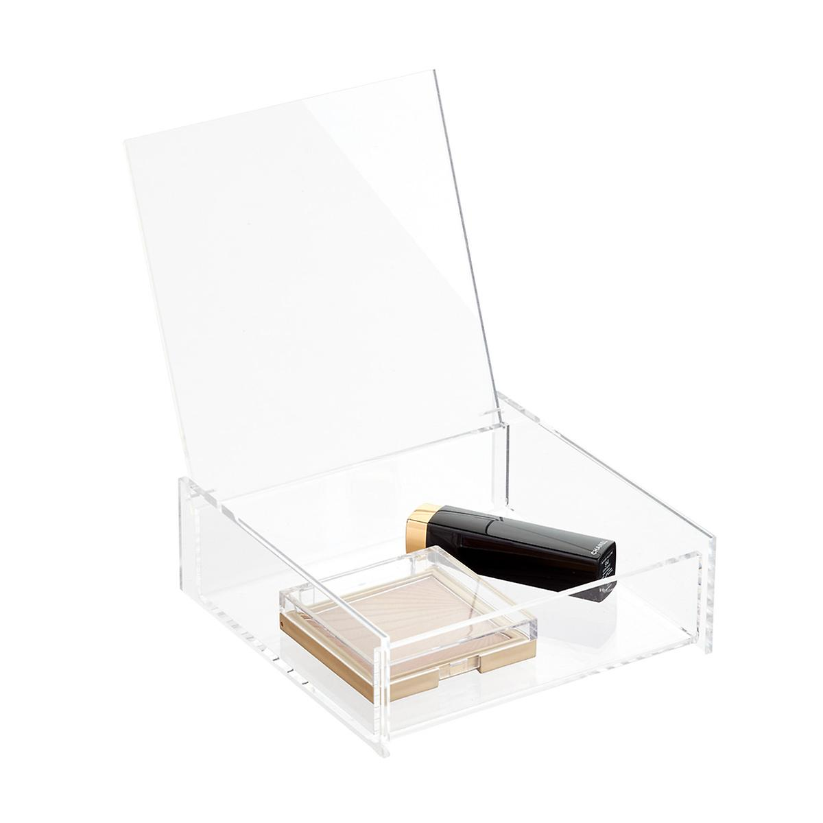 Acrylic Square Hinged Lid Box The Container Store