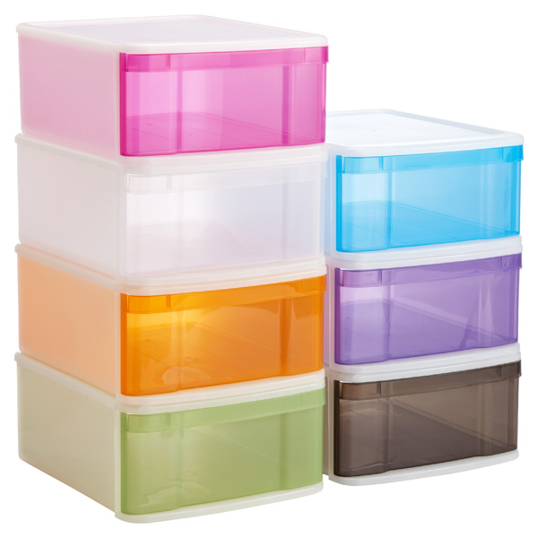 Stackable Drawers Large Tint Stacking Drawer The Container Store