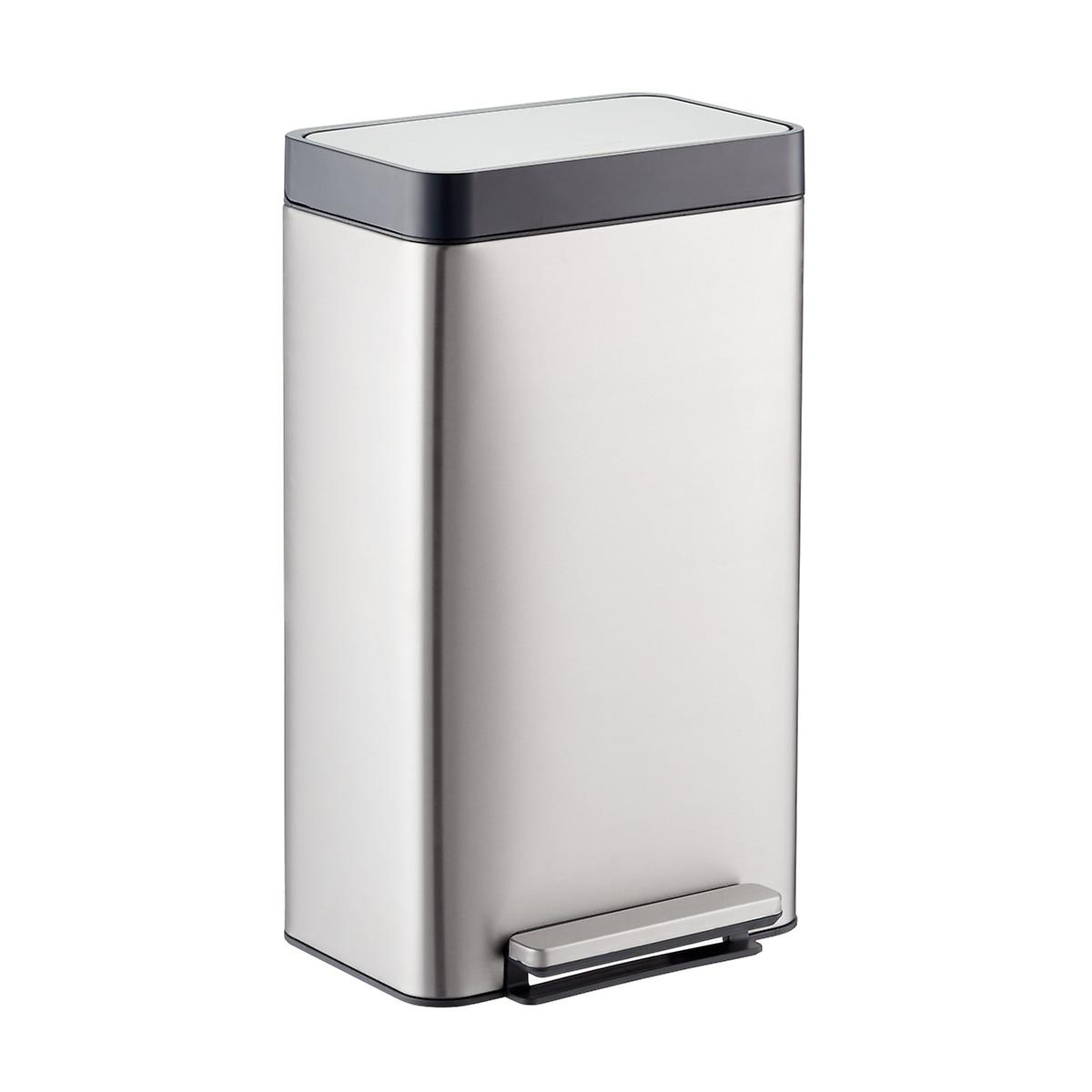 kohler stainless steel 8 gal loft step trash can the container store rh containerstore com