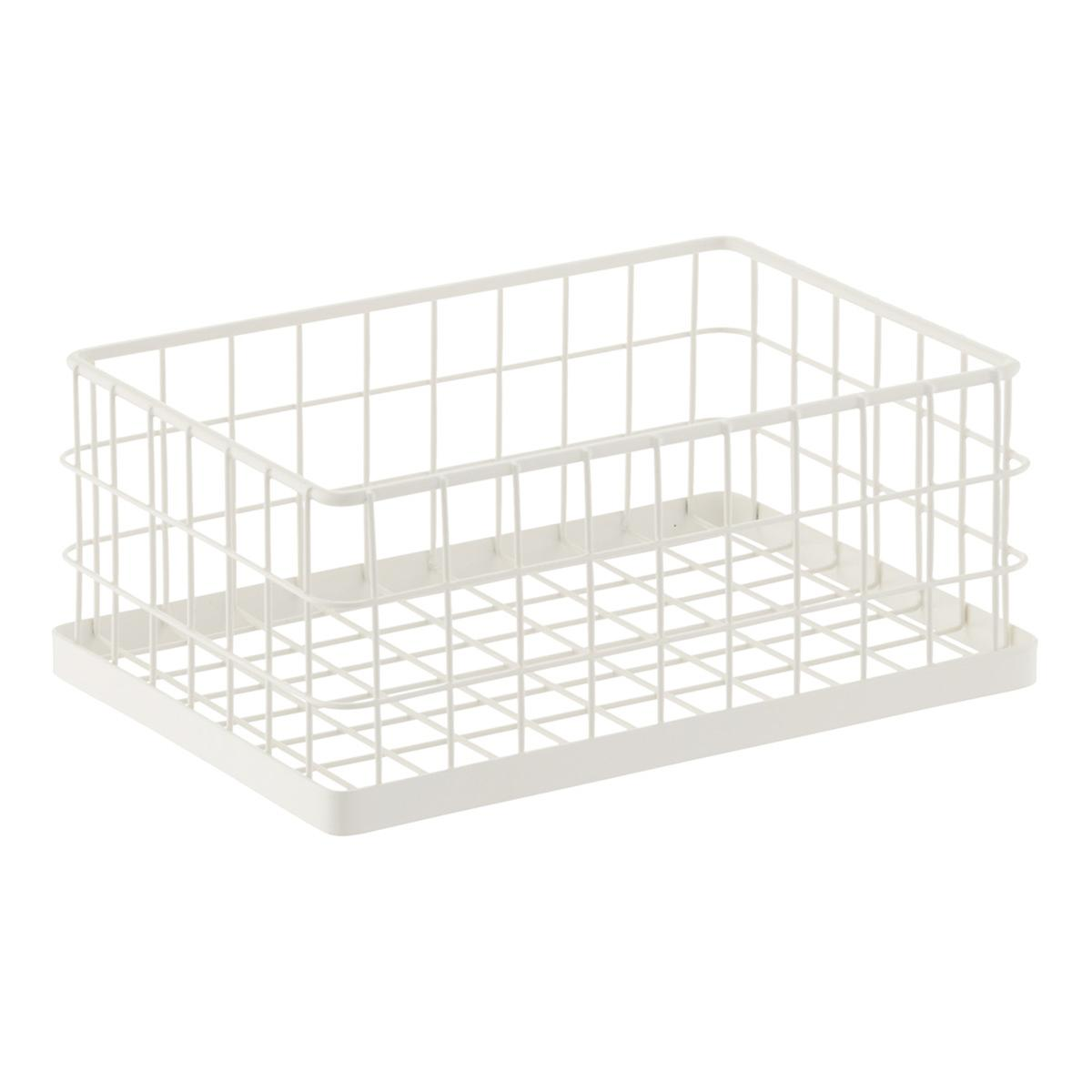 White Stacking Wire Bins | The Container Store