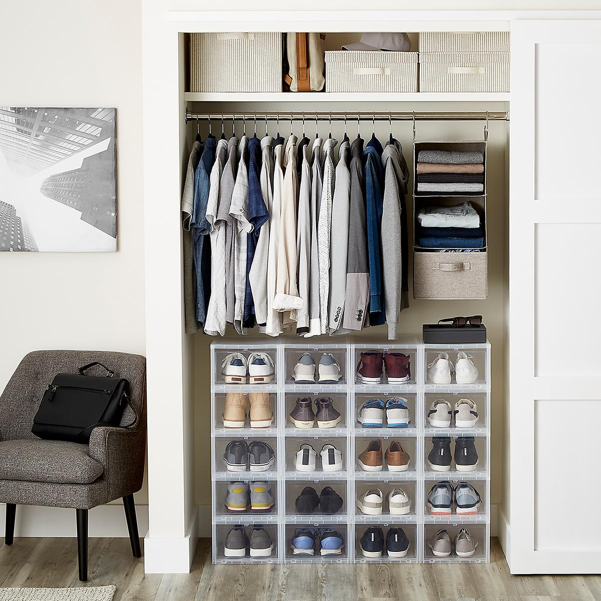 Men S Small Closet The Container Store