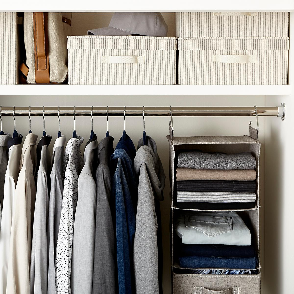 men's small closet | the container store