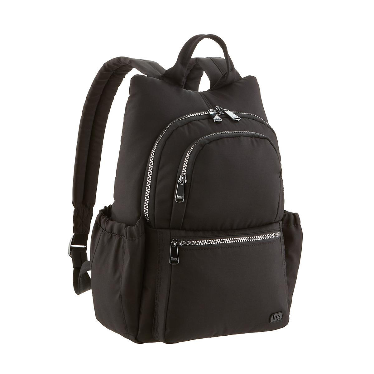 Q   A. Be The First To Ask A Question. Lug Black Hatchback Mini Backpack ... ad83b8ee73204