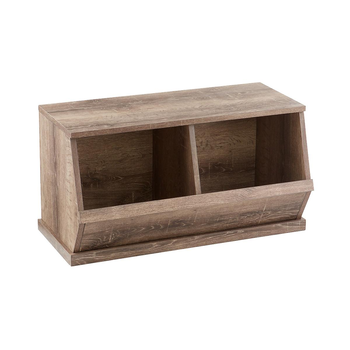 Rustic Driftwood Nantucket Stackable Storage Bin | The Container Store