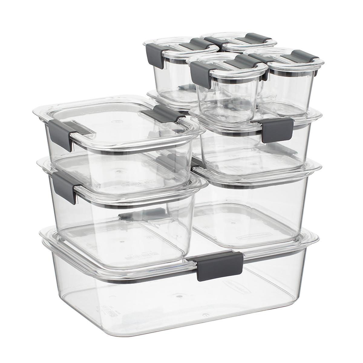 Rubbermaid Brilliance Food Storage Containers Set Of 20 The