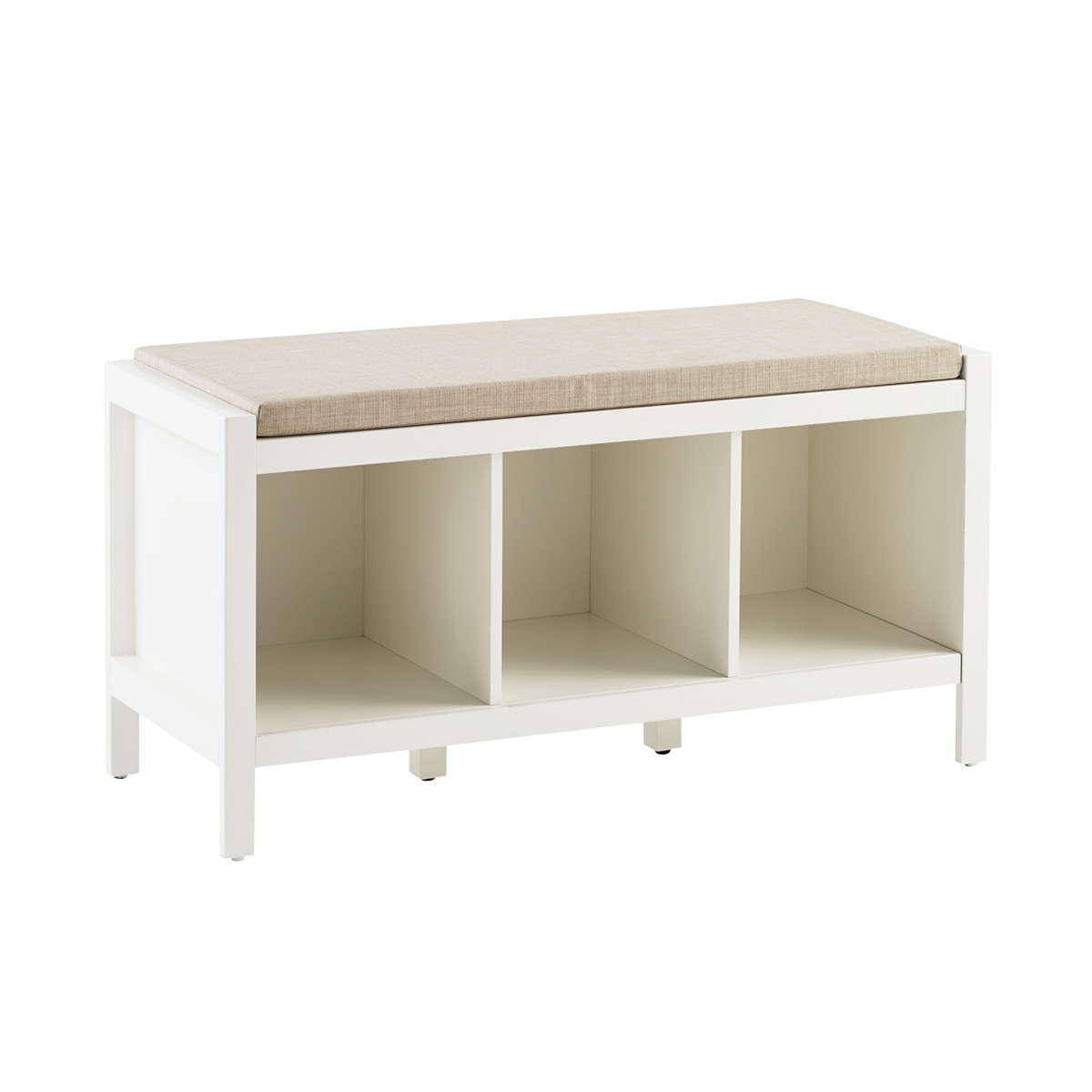 Clybourn 3 Cubby Bench White