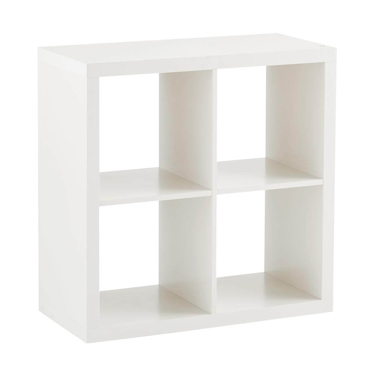 White 4 Cube Cubby Shelving