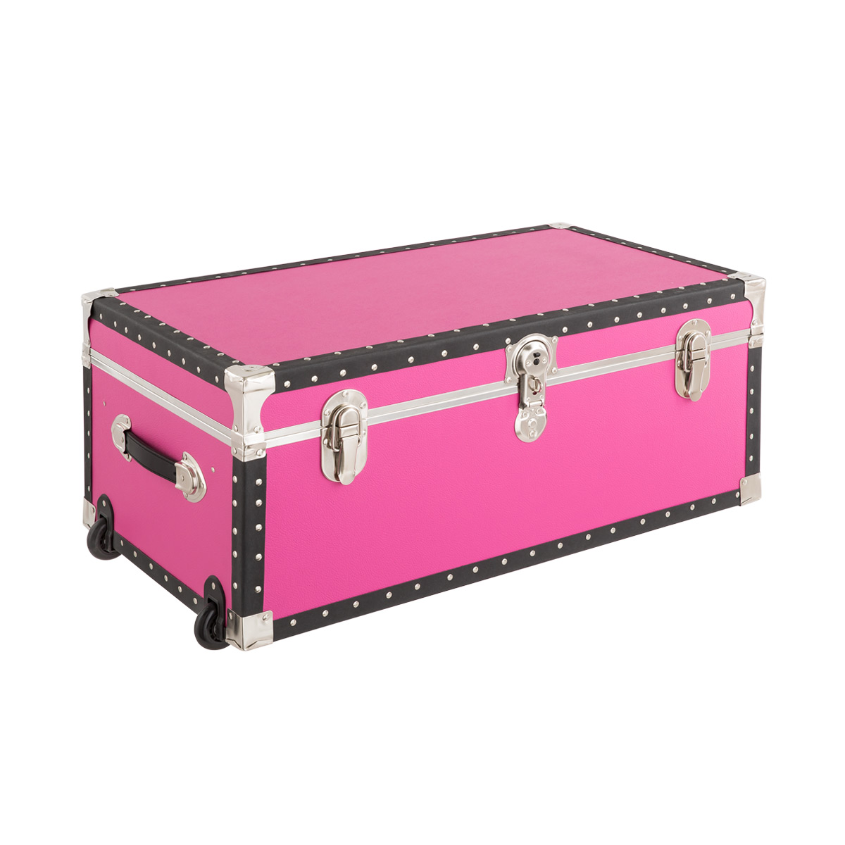 Pink Rolling Trunk With Tray ...