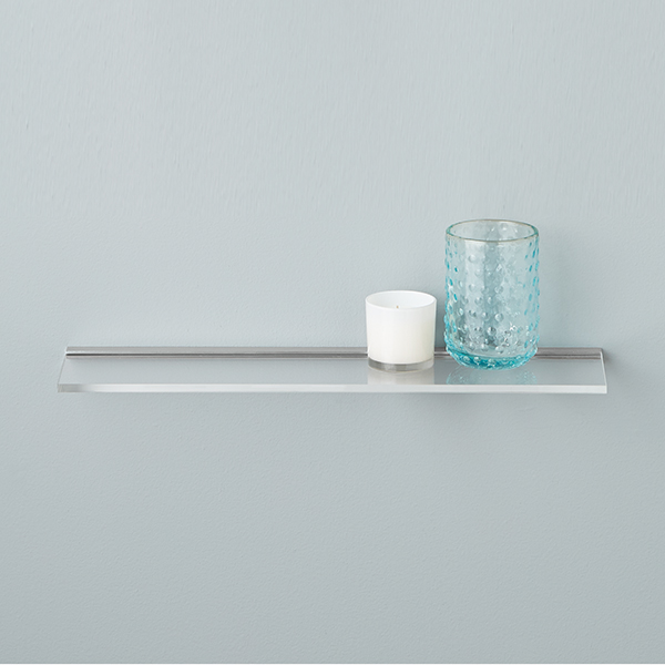 Umbra Sheer Acrylic Wall Shelf | The Container Store