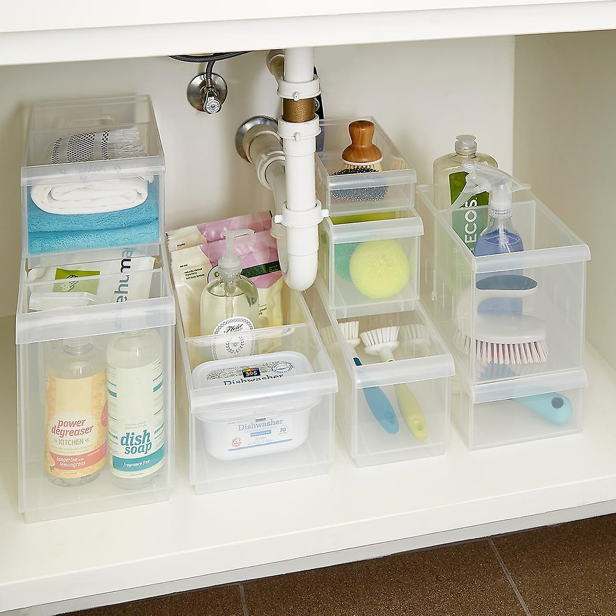 Stackable Under Sink Organization Storage Kit The Container Store