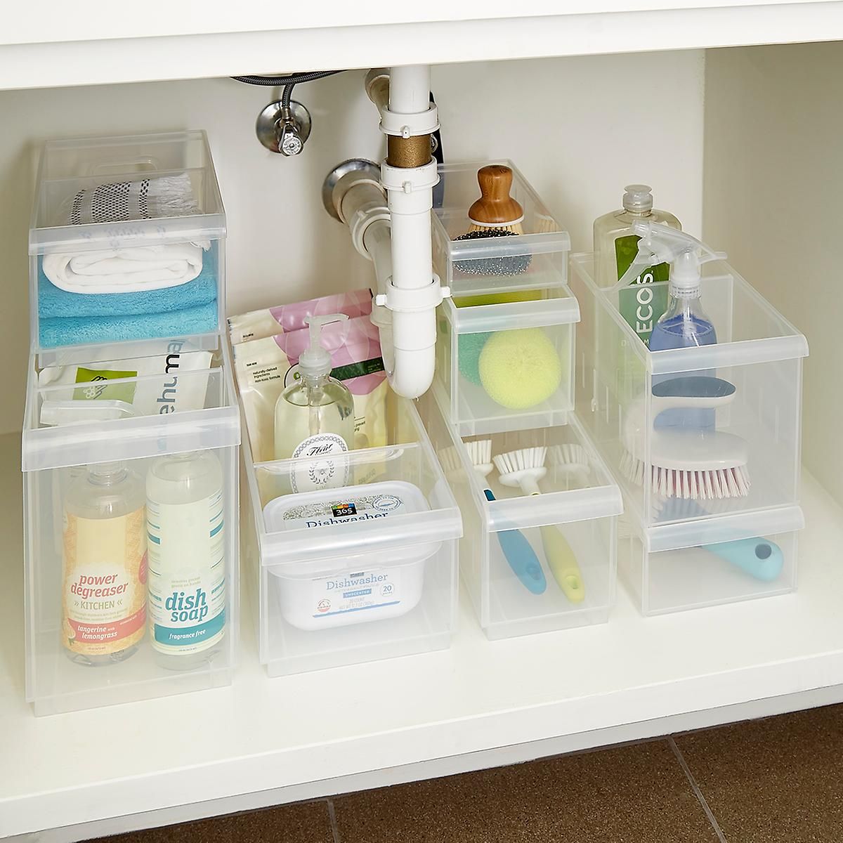 Stackable Under Sink Organization Starter Kit ...